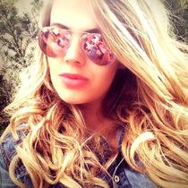 Óculos Ray Ban Aviador 3025 Com Lentes Rosa Rosê Espelhado