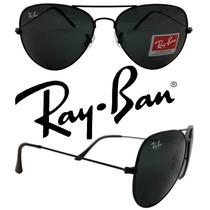 Ray Ban Aviador 3025 M 3026 G Lente Preta Cristal Rayban Rb