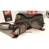 Óculos De Sol Wayfarer 2140 Tartaruga Lente Marrom