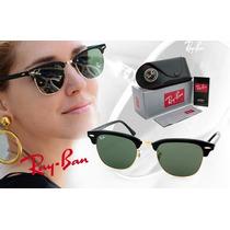 Óculos Ray Ban Clubmaster 3016 - Lentes Cristalizadas Verde
