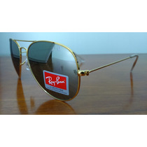 Óculos De Sol Ray Ban Aviador Rb3025 Gold/mirror Lens