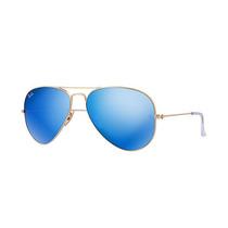 Ray Ban Aviador Rb3025 112/17 Blue Lentes Azul Espelhadas