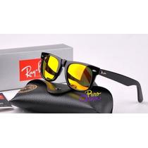 Oculos Sol Ray-ban Wayfarer Espelhado Color - Varias Cores