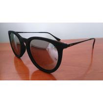 Óculos De Sol Ray Ban Rb4171 Érika Velvet Preto/espelhado