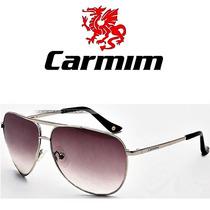 Óculos De Sol Carmim Masculino Prata Aviador Novo Original