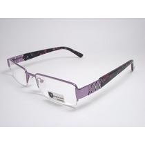 Armação De Óculos Feminino Vinho Turquesa Preto Kj9071 C6 Mj