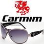 Óculos De Sol Carmim Feminino Prata Preto Cinza Cobra Fumê