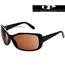 Óculos De Sol Up Union Pacific Preto Marrom Feminino