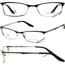 Óculos Armani Masculino Marrom Prata Grau Armação Metal