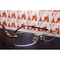 Armação Óculos Grau Montblanc Mb89 Dourado Tartaruga Sem Aro