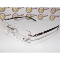 Armação Oculos De Grau Mont Blanc Mb89 Grafite Sem Aro