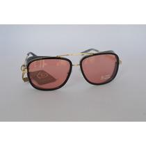 Óculos Escuro Vermelho Aviador Moda Proteção Lateral