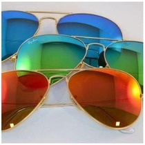 Óculos Aviador Espelhado 3025 Masculino E Feminino