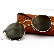 Óculos De Sol Retrô Rayban Redondo Original Ray Ban