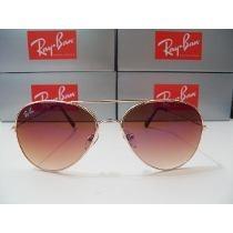 Ray Ban 3025 Aviador Dourado Lente Rosa Degradê Promoção!!!