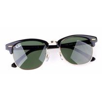 Oculos De Sol Rb3016 Clubmaster Preto / G15 Luxo Promoção