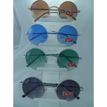 Óculos De Sol Estilo John Lennon Rock Vintage Retrô+ Brindes