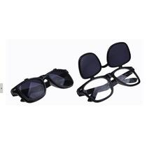 Óculos Sol/transparente 2 Lentes Vintage- Armação Dupla