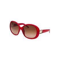 Fendi Oversized Red Sunglasses Brown Lens Feminina