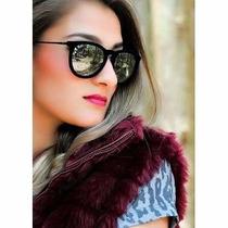 Óculos Rnay-ban Veludo Erika Velvet Espelhado Original