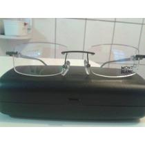 Armação Óculos Mont Blanc Cinza Mod. Mb89 Em Acetato