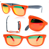 Oculos Rayban 4105 Wayfarer Dobravel Espelhado Oferta 50%
