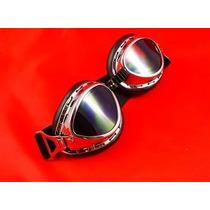 Óculos Motociclista Steampunk Fumê