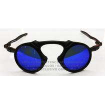 Oculos Madman Black Fosco Lente Blue Magpolarizada Uv/uva 40