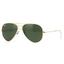 Óculos De Sol Aviador Ray Ban Masculino Metal Dourado