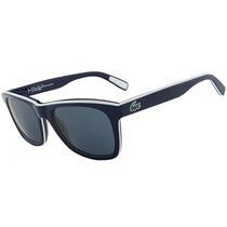 Óculos De Sol Lacoste Azul Escuro Com Branco