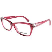 Óculos De Grau Feminino Emporio Armani Acetato Vermelho