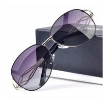 Oculos De Sol Feminino Polarizado Luxo Com Pedras - Promoção