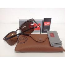 Oculos De Sol Ray Ban Clubmaster 3016 Madeira + Frete Free