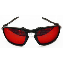 Oculos Badman Black Lente Fire Red Polarizada Uv/uva 400