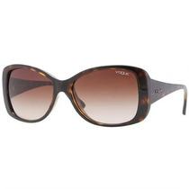 Óculos De Sol Vogue Retrô Marrom Com Lente Marrom