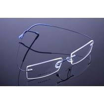 Armação Azul Grau Oculos Metal Titanium Titanio Sem Aro 574