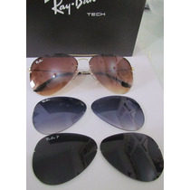 Ray Ban 3 Lentes Polarizado Flip Out Aviador Cert. Original