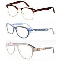 Armação Óculos De Grau Vários Modelos Feminino / Masculino