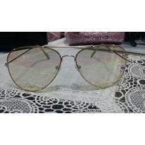 Óculos Feminino Aviador Proteção Uv400