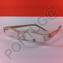 Armação Transparente Com Rosa Feminina Óculos Lentes De Grau