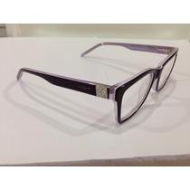 Armação De Óculos Vogue Acetato Roxo Com Lilás