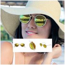 Óculos Ray-ban Redondo Dobrável Rb3517 001/93 51-22