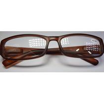 Óculos De Leitura Lente 3,50 Graus Positivos Marrom Fosco