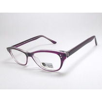 Armação Óculos Feminino Gatinho Roxo Acetato Cr57 C3 Mj
