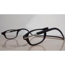Armação Óculos Click Ima P/colocar Grau Magnético Leve Preto