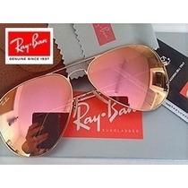 Óculos Sol Ray Ban Aviador Rose Espelhado Pronta Entrega!!!