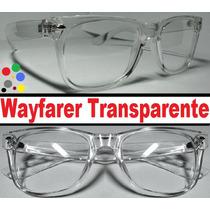 Armação Estilo Wayfarer Totalmente Transparente - Exclusivo