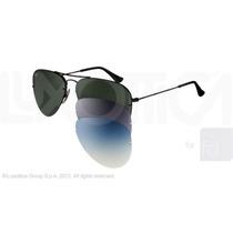 Óculos De Sol Ray-ban Rb3460 Flip Out Original Preto