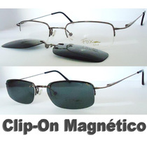Armação Para Óculos De Grau + Clip-on Polarizado De Policarb