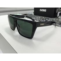 Oculos Solar Evoke Evk 15 Preto Brilho Com Lente Verde Escur